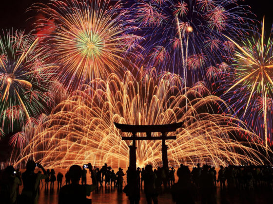 beautiful weddings with impressive fireworks that light up the night sky i
